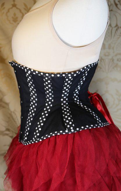 MCC32 Polka Dot Cotton Underbust corset-823