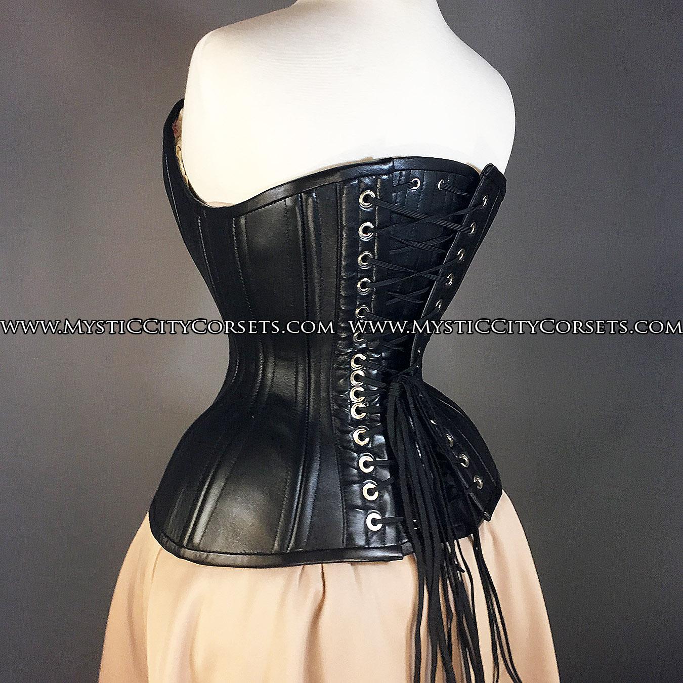 4f7296b36f1 MCC29 Black Leather overbust corset